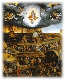 a painting of the last judgement by michelangelo