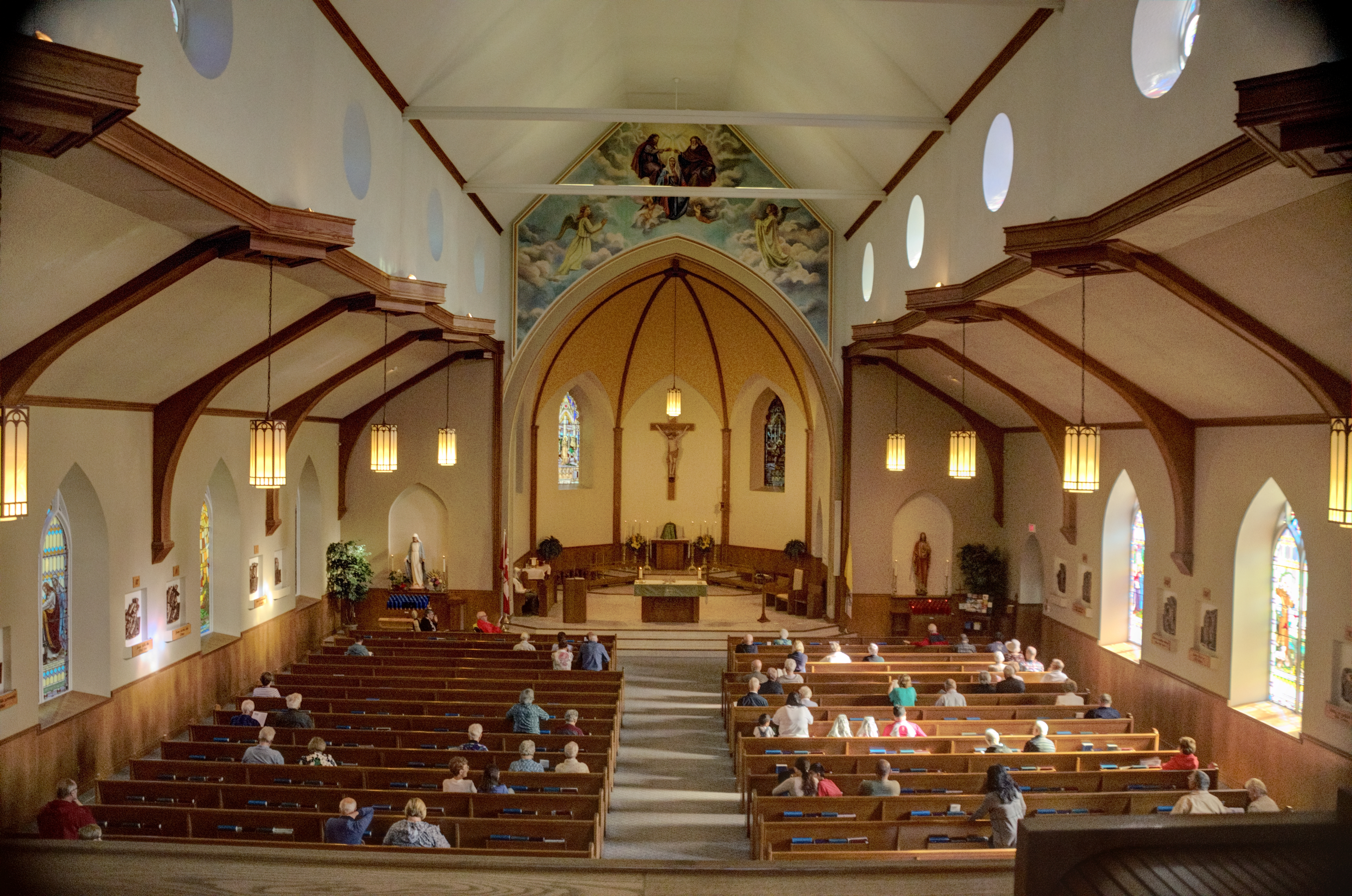 Image of St. Margaret's during Mass from the choir loft